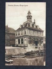 Vintage Postcard: #TP107: Custom house, Kings Lynn: Docks Boats