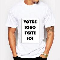 T-Shirt Personnalisable Personnalisé Votre Logo Texte Custom Shirt Print EVG top