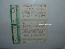(2) BRIDGE SCHOOL 1994 Concert Tickets PEARL JAM Petty NEIL YOUNG Ministry DROGE