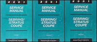 2001 Sebring and Stratus Coupe Shop Manual Set Chrysler Dodge Repair Service