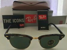w0366 ray ban ptkf  Ray-Ban RB 3016 W0366 Clubmaster Mock Tortoise / Green Crystal Lens 51mm