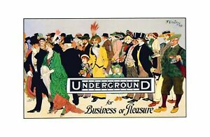F. E. Witney - Underground for Business or Pleasure Advertisement 1913 Print