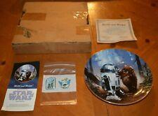 STAR WARS R2-D2 & WICKET PLATE FROM DISNEYLAND 1987 + FREE 2 DISNEY WORLD PINS