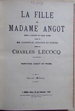 #) livre partition LA FILLE DE MADAME ANGOT - Charles Lecocq - Edition Joubert