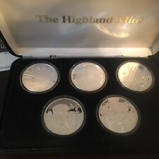 X-MEN 5-1 Oz .999 Fine Silver Coins. ONLY 500 SETS MADE! Highland Mint