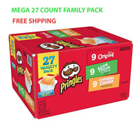 Pringles Snack Stacks Potato Crisp Chips Flavored Variety Lunch Pack 27 Count