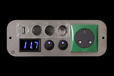 Vauxhall Movano Campervan Green 240v,12v Switches,3 Way USB Voltmeter