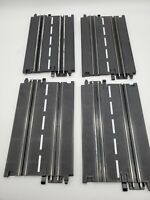 """Vintage ARTIN 1/43 Slot Car Track 2 Lane 7"""" Straight Track 4 PIECES White Lined"""