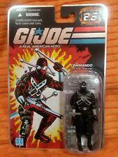 """Gi Joe 2008 25th anniversary SNAKE EYES '89 knives 3.75"""" figure"""