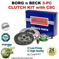 BORG n BECK 3PC CLUTCH KIT with CSC for FORD MONDEO Berlina 2.0 TDCi 2001-2007