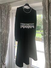 Hand Smocked Velvet Bonnie Jean  Romany Girls Dress - Fit 10/12 Years Old
