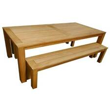 Milano 3 piece Outdoor Timber Dining Table and Bench Setting 2200mm x 1030mm