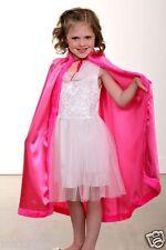 NEW Girl Child PRINCESS CAPE Hooded Cloak Coat Halloween Costume HOT PINK ANNA ⭐