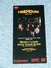 "FIREHOUSE Japan 1992 NM Tall 3"" inch CD Single WHEN I LOOK INTO YOUR EYES"