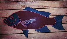 Long Island Door Mat - Red Snapper, Red Fish, Saltwater Fish Doormat 1st Quality