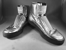 Andy Warhol Size 10 Sneakers Shoes Metallic Silver With Ring Design Hi VERY RARE