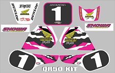 honda qr50  graphics full kit decals qr 50 stickers  PINK