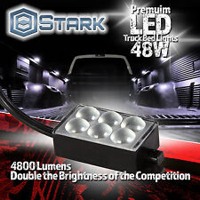 Waterproof Truck Bed Work Box Lighting Switch Kit WHITE 8PCS 48 LED 48W 4800LM