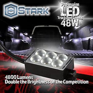 Waterproof Truck Bed Work Box Lighting Switch Kit WHITE 8PCS 48 LED 48W 4800LM