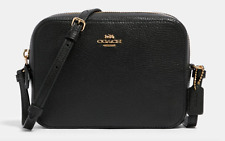New Coach Leather Mini Camera Bag Style Black