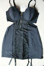 Ann Summers Inca Cami Suspender Size 14 New & Tags Black EU 40 Basque RRP £40