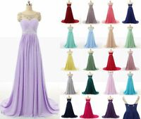 New Long Chiffon Bridesmaid Dress Evening Formal Party Ball Gown Prom  Cocktail