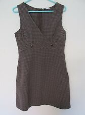 New with Tags Women's Rampage Brown/Black/White Plaid Tank Top Dress Size 9