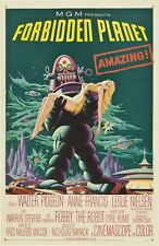 Forbidden Planet 1956 American Science Fiction Print Poster Wall Art Picture A4+