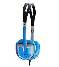 Urbanz Vibe Headphones Earphones for Kids Childrens iPad iPod Mp3 - 2 X Blue