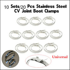 10 Sets Universal Stainless Steel Car Auto Clips Clamps For Rubber CV Joint Boot