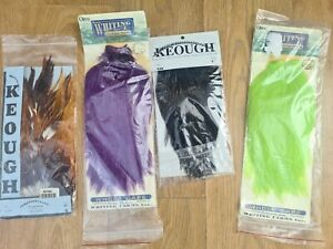 Whiting fly tying capes, Chevron hackle & Keough. Fly fishing trout salmon