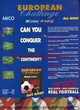 "Kick Off 3 European Challenge ""ANCO"" 1995 Magazine Advert #5790"