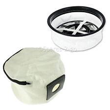 """Lifetime Lavabile Riutilizzabile Panno Zip Bag + 12 """"Filtro per aspirapolvere Numatic Henry Vuoto"""