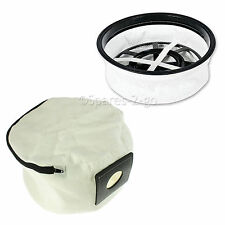 "Lifetime Washable Reusable Cloth Zip Bag + 12"" Filter  for Numatic Henry Vacuum"