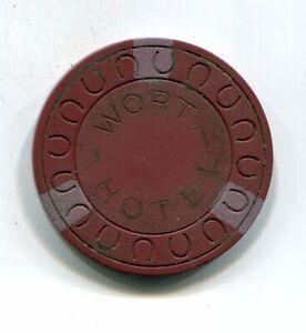 $25 WORT HOTEL JACKSON HOLE WY. ILLEGAL GAMBLING CHIP JESS & JOHN WORT