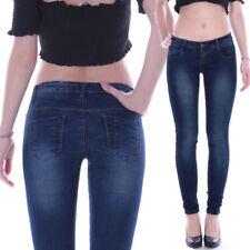 Jeans da donna slim, skinny in denim Taglia 36