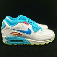 Nike Air Max 90 Running Shoes 345017-123 White/Pink/Blue Size 7Y BRAND NEW