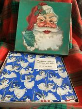 Vintage Christmas Boxed Flat Wrapping Paper 20 Sheets In Original Box