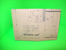 Midway BAZOOKA GUN Rare 1960 Rifle Shooting Arcade Game Original Schematic