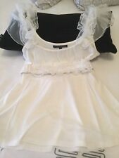 Ladies CHARLIE BROWN Top with removable ruffle belt Size 12 - New and never worn