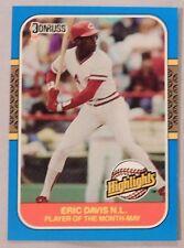 1987 Donruss Highlight Eric Davis Reds #8 Baseball Card