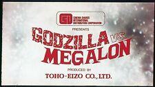 GODZILLA vs MEGALON 1973 35mm Feature Promo Film Trailer Film Cell Slides Box