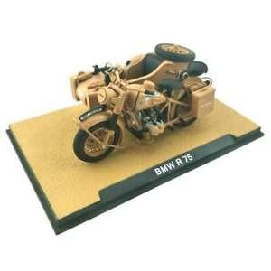 Atlas 1:24 BMW WWII German R75 Sidecar Motorcycle Model Toy