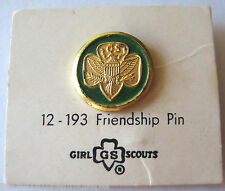 Vintage 1960-1979 Girl Scout FRIENDSHIP PIN Gold Eagle International Swap NEW