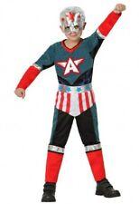 Déguisement Garçon CAPTAIN AMERICA 5/6 Ans Enfant Super Héro NEUF