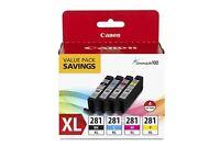Canon CLI-281 XL Original Ink Cartridge Value Pack - Black, Cyan, Magenta,