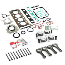 Engine Rebuild Overhaul Φ23mm Pistons Con rods Gaskets for VW Audi A3 A4 2.0TFSI