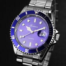 GONEWA Men Fashion Military Stainless-Steel Date Sport Quartz Analog Wrist Watch