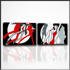 Quadri dipinti a mano su tela Lupin Fujiko dipinto moderno pop art idea regalo