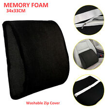 Memory Foam Seat Back Pain Support Booster Cushion Chair Car Pillow Lumbar Lower